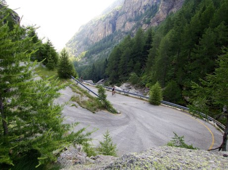 Some nice hairpins on old road