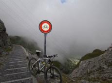 Hiking trails down to Leukerbad. No bikes (steep)
