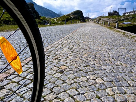 Cobble close-up. Nearing Ospizio