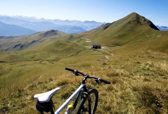 Refuge du Mont Jovet below (2350m)