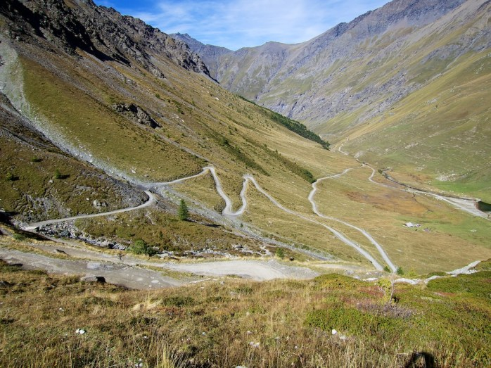 Lower stretch of hairpins