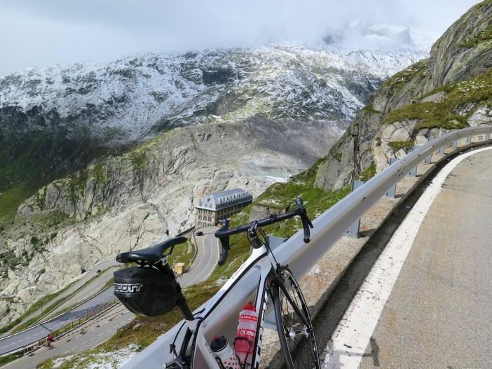 Above Belvedere hotel and Rhone glacier