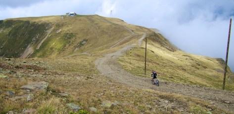 Descending from Tête de Veret