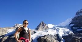 Doreen and a glacier