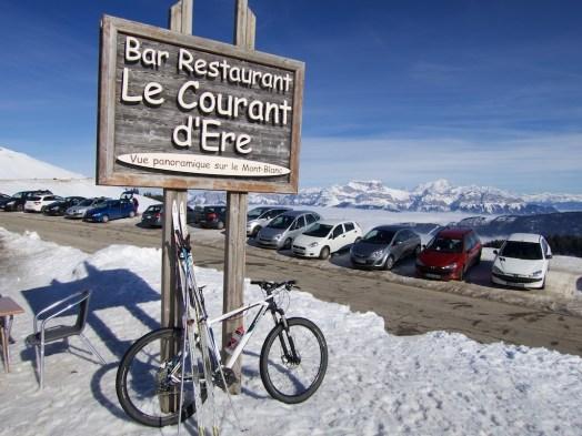 My bike and my skis