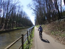Canal bike paths