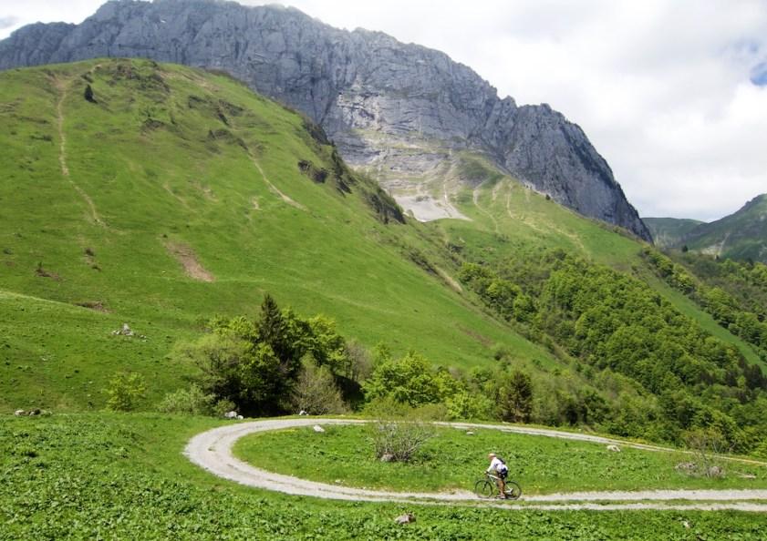 1 km below summit