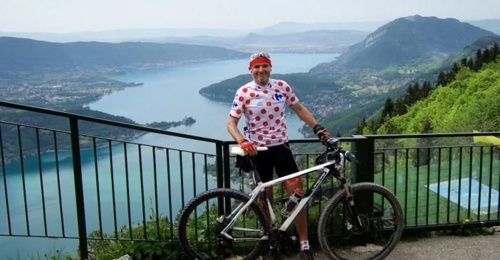 Full Polka Dots.  View from Col de la Forclaz