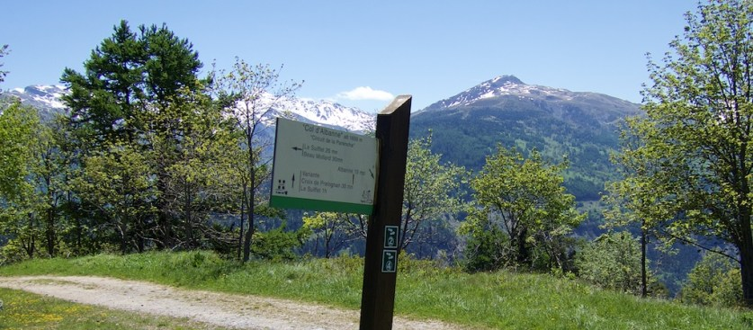 Col d'Albanne sign
