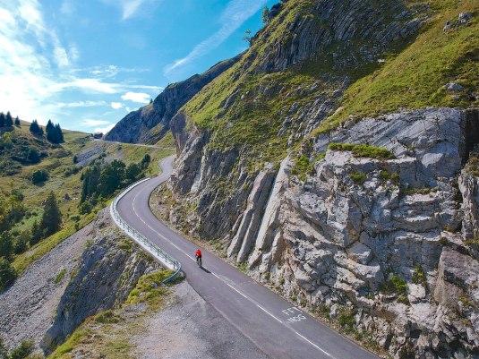 High point of route: Final km of Col de la Colombière