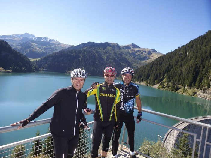 Lac de St. Guérin with Xavier and Philippe