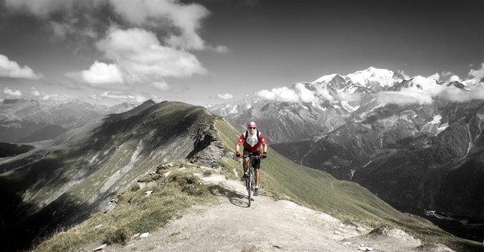 Just below Aguille Croche - Mont Blanc behind