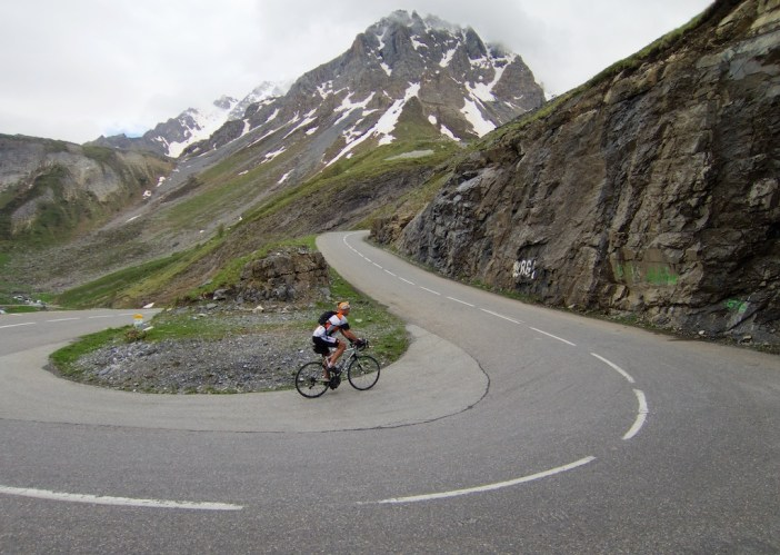 Nice hairpin - 7 kms from summit