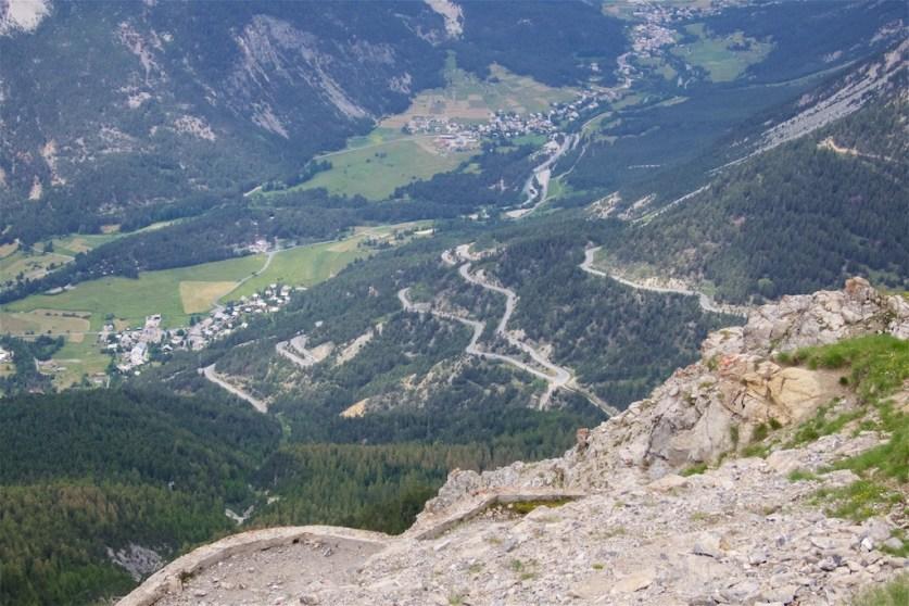 Montgnèvre hairpins viewed from Janus
