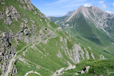 Colle delle Finestre in middle distance
