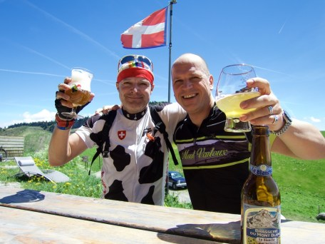 Beers at the summit with Markus