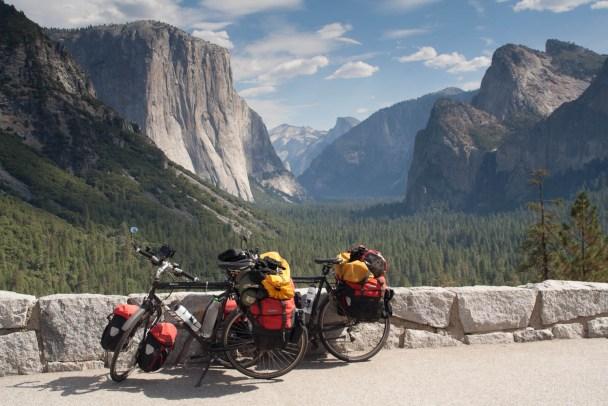 Famous view is Yosemite Park
