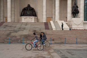 Yes Mongolians do ride bikes