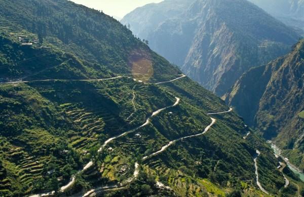 Steep mountain road
