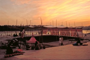 The Ganges at sunset