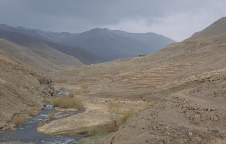 Lesotho rural area
