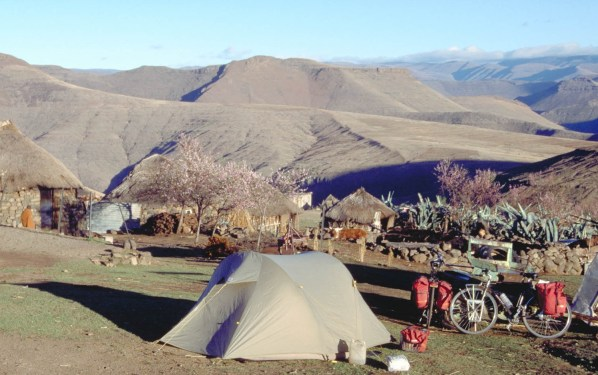 Camping at a local village
