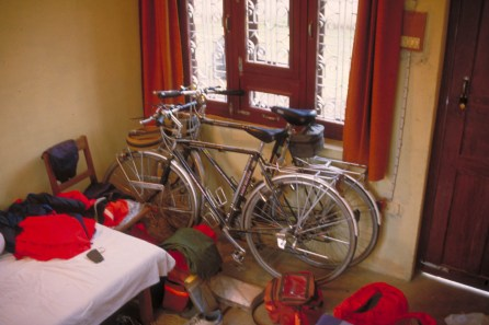safest place to store the bikes: our hotel room