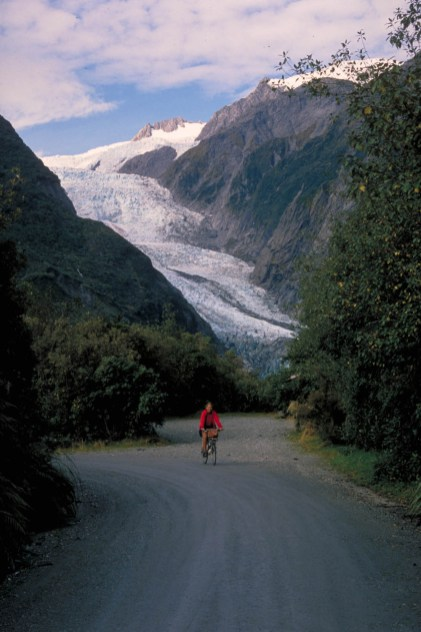 one of the glaciers on South Island