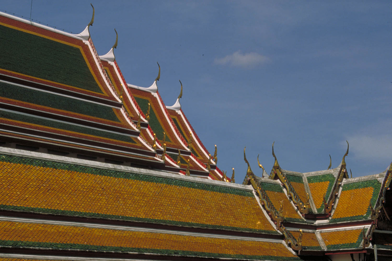 details of a temple roof
