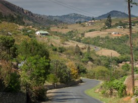North of Mbabane, the Pine Valley road