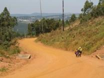 The road from Piggs Peak to Bulembu