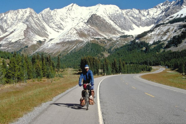 Descending from Highwood Pass...