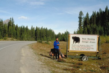 Look at for bears and stay in your car ;-)