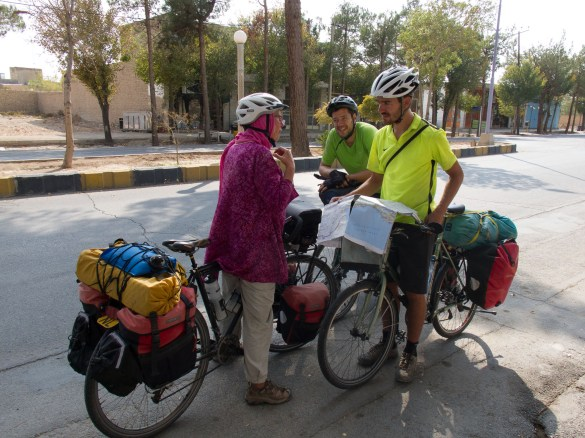 The only other cyclists we met (in Abarkuh)