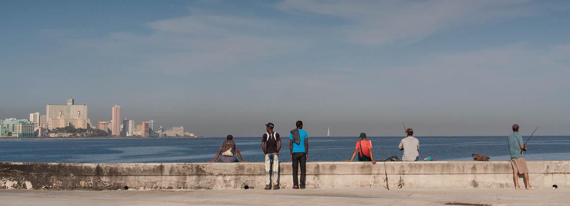 fishermen at the Malecon