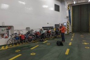 Many cyclists use the ferry from the Hebrides to the mainland. Bikes are free.