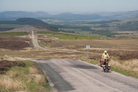 The long climb up the Military Road north of Fort Augustus