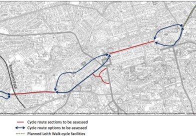 New Edinburgh Cycle Route across city centre planned