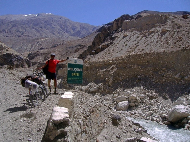 Welcome to Spiti signboard
