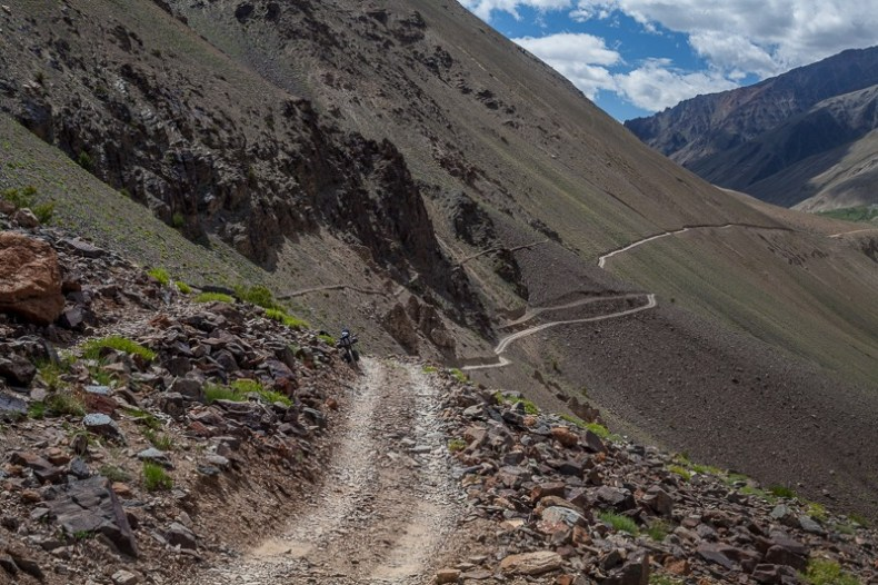 Cycling from Maling to Purne in Zanskar Valley