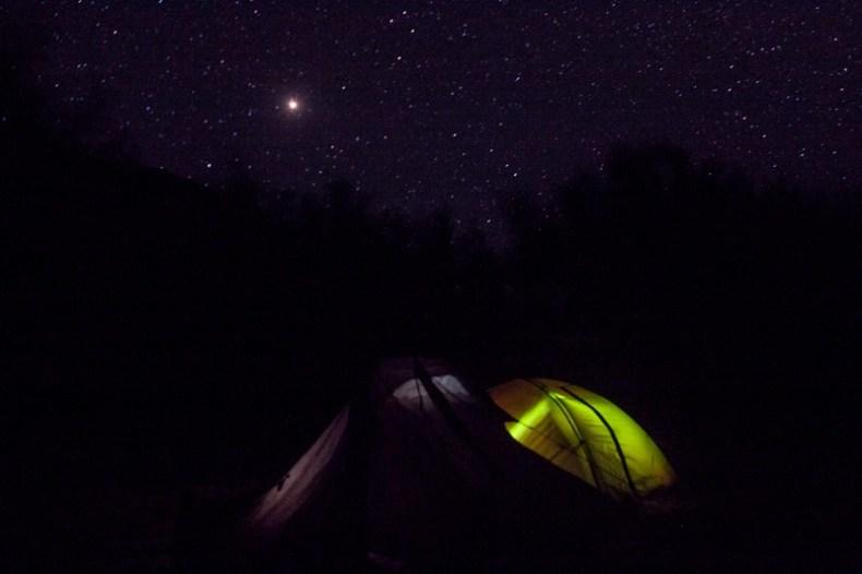 Camp under the stars in Purne
