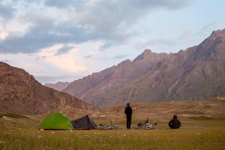 Camping near Abran in Zanskar Valley