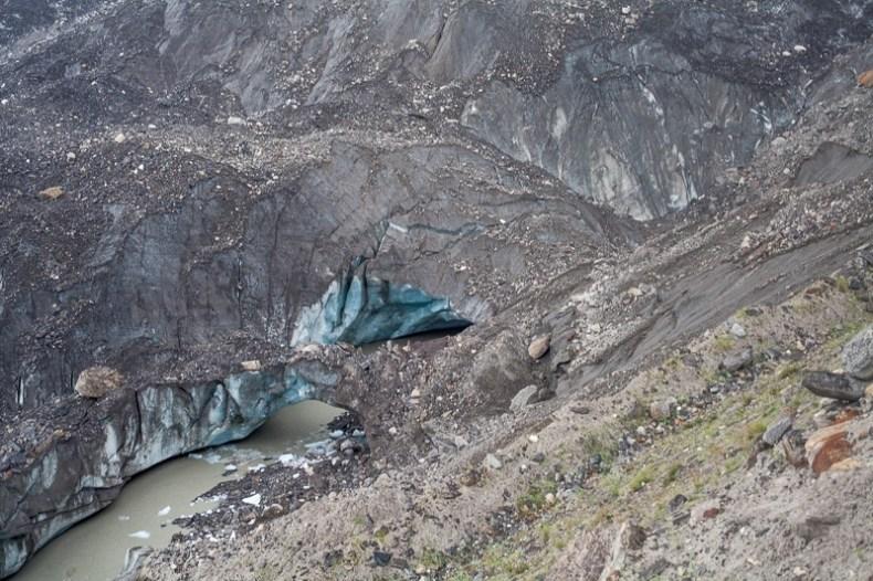 Parkachik Glacier melting ice