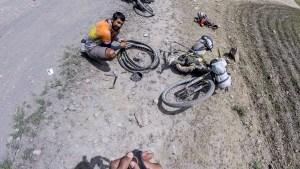 Cycling from Padum to Abran in Zanskar Valley