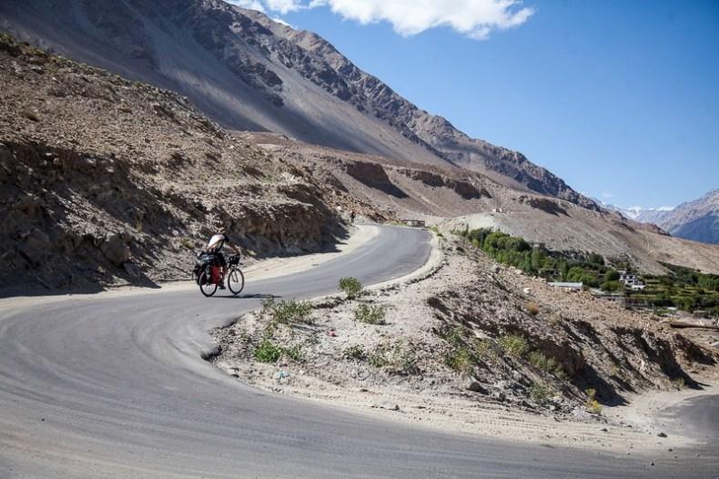 Cycling near Shyok Village