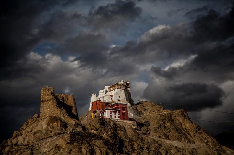 Tsemo Gonpa as visible from the Leh Palace