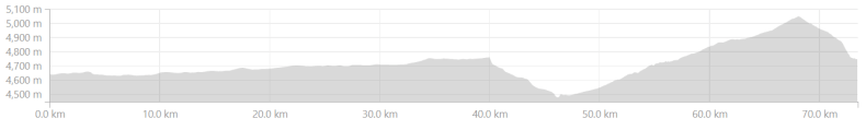 Elevation profile from Debring to Whiskey Nala