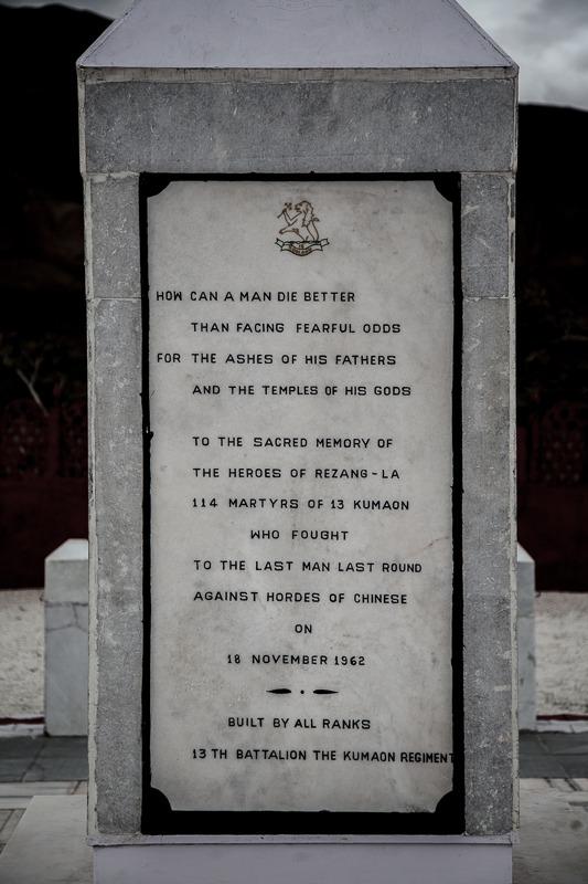 Memorial at Rezang La in Ladakh
