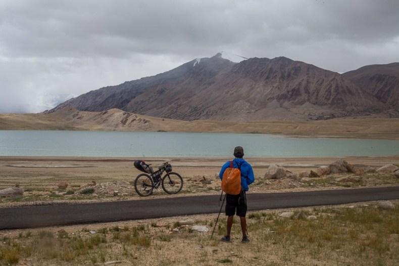 Kiagar Tso when cycling from Sumdo to Tso Moriri