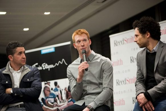 Trois Etapes Launch Carlos Sastre & Ed Clancy